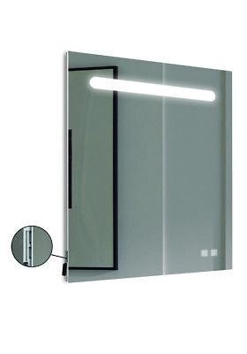 Espejo para el baño 60x80 cm, 5700k, con antivaho y USB. luz...