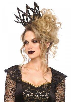 mit goldenem Metallic-Dekor Leg Avenue Königin Krone dark (Schwarze Königin Krone)