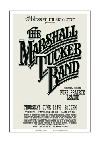 Marshall Tucker Band 1979 Cleveland Concert Poster