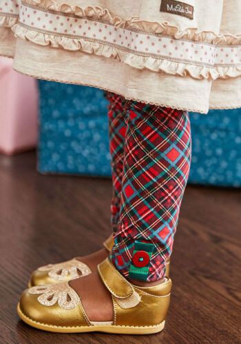 MATILDA JANE In The Present Leggings Size 4 6 8 10 New In Bag Plaid Christmas