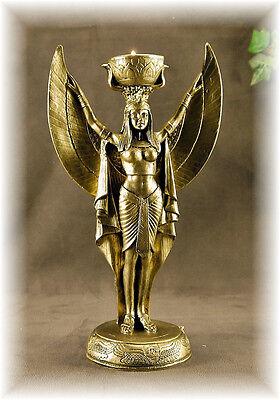 ÄGYPTEN  Teelichthalter  =stehende ISIS-GOLD *Figur*Deko-Neu-Geschenk*Skulptur
