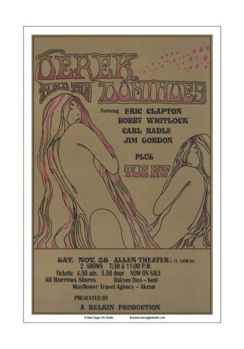 Derek And The Dominos 1970 Cleveland Concert Poster