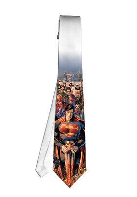 Superman DC Batman Wonder Comic Necktie Neck Tie Halloween Cosplay Costumes - Batman Halloween Comic