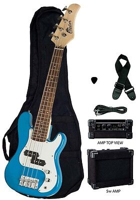 "Raptor 38"" Kid's 3/4 Size Junior Kidss 4 String Electric P Bass Combo - BLUE"