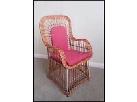 Childs Wicker Chair - steel framed