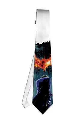 Joker Dark Knight Batman Hero Necktie Neck Tie Anime Manga Cosplay Gift Movie - Joker Tie
