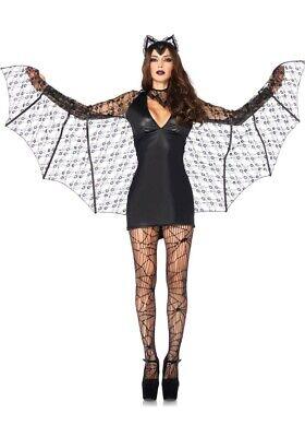 Damen Kostüm Leg Avenue - Moonlight Bat - Halloween Vampir Fledermaus neu - Moonlight Fledermaus Kostüm