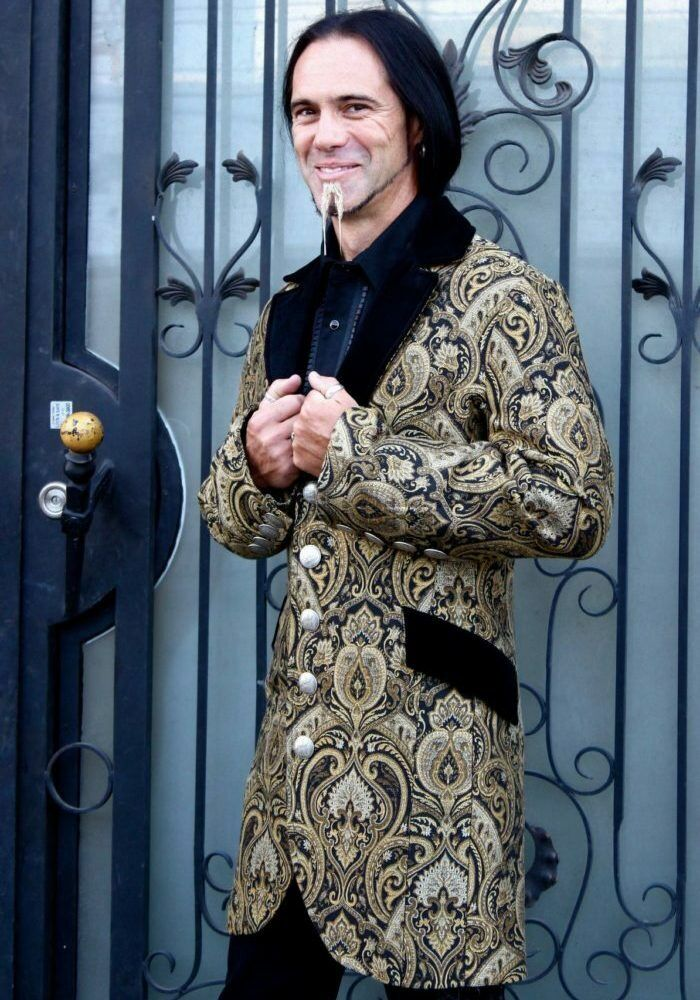 SHRINE GOTHIC VAMPIRE DINNER VICTORIAN CARNIVAL PIRAT COAT JACKET STEAMPUNK Clothing, Shoes & Accessories