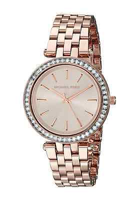 New Michael Kors Rose Gold Mini Crystal Darci Dial MK3366 Wrist Watch for Women (Rose Gold Michael Kor Watch)