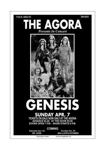 Genesis 1974 Columbus Concert Poster
