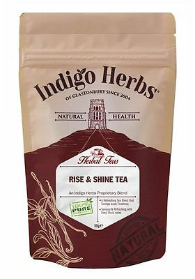 Herbal Tea Blend Coffee/Tea Alternative - Rise & Shine - 50g Indigo (Herbal Rise)