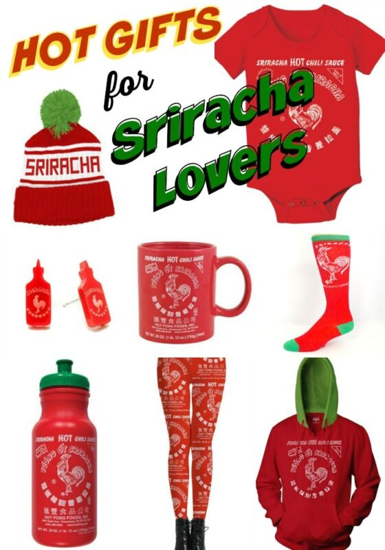 Sriracha is one of those brands that goes well beyond the product it makes. With its funky label and iconic rooster – not to mention its incredible taste – it has reached cult status. And with that status has come a lot of cool Sriracha shirts, books, and other Sriracha gifts that make for.
