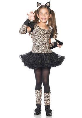 Kleines Leoparden Mädchen Kostüm Deluxe NEU - Mädchen Karneval Fasching - Kleines Mädchen Leopard Kostüm