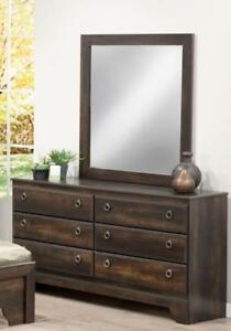 Brand New!! Contemporary Style, Espresso Finish, 6 Drawer Bedroom Dresser