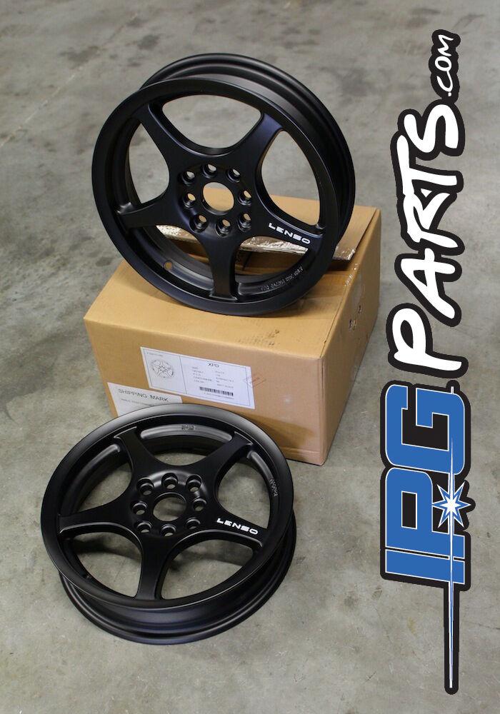 Black Lenso XPD Drag Race Wheels Rims 15x3.5 4x100 Civic Integra CRX Skinnies