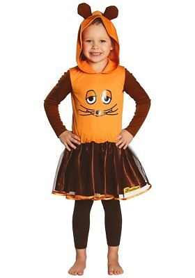 Maus Kleid Kostüm Sendung mit der Maus orange Rock (Orange Kind Kostüm)
