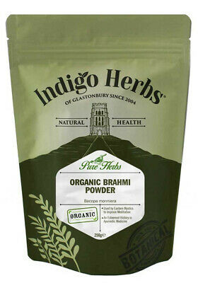 Indigo Herbs Organic Brahmi Powder 250g Bacopa monnieri Brahmi Herb Powder