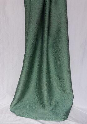 Scampoli di tessuto in seta Jacquard verde smeraldo (Pregio col.90)