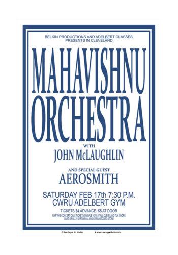 Mahavishnu Orchestra / Aerosmith 1973 Concert Poster