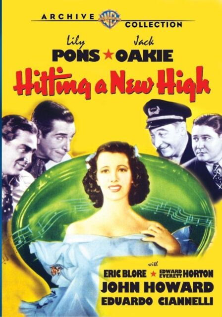 HITTING A NEW HIGH - (1937 Lily Pons) Region Free DVD - Sealed