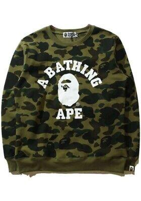 A Bathing Ape Bape Green Camouflage Unisex Teen Adult Sweatshirts
