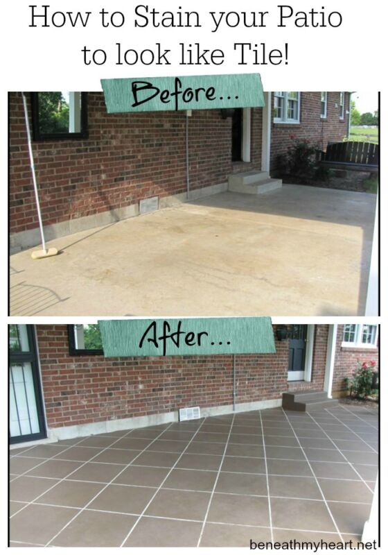 How To Stain Your Patio To Look Like Tile Ebay