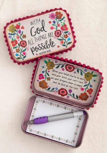 Natural Life All Things Are Possible Prayer Box