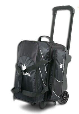 Brunswick EDGE Premium 2 Ball Roller Bowling Bag 5-Inch Wheels Color Black