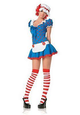 Leg Avenue Sexy Rag Doll Raggedy Anne Adult - Raggedy Doll Costume