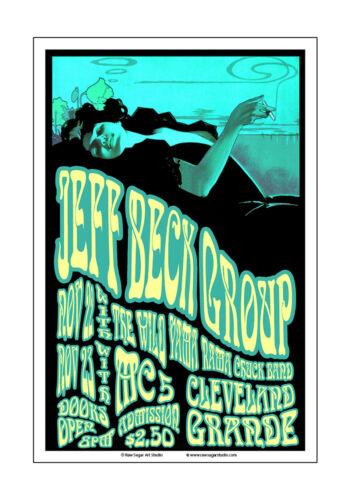 Jeff Beck / MC 5 1968 Cleveland Concert Poster