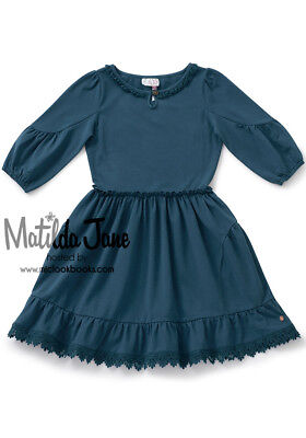 Girls Matilda Jane Make Believe Out Of The Blue Dress size 12 NWT](Girls Out Of Clothes)