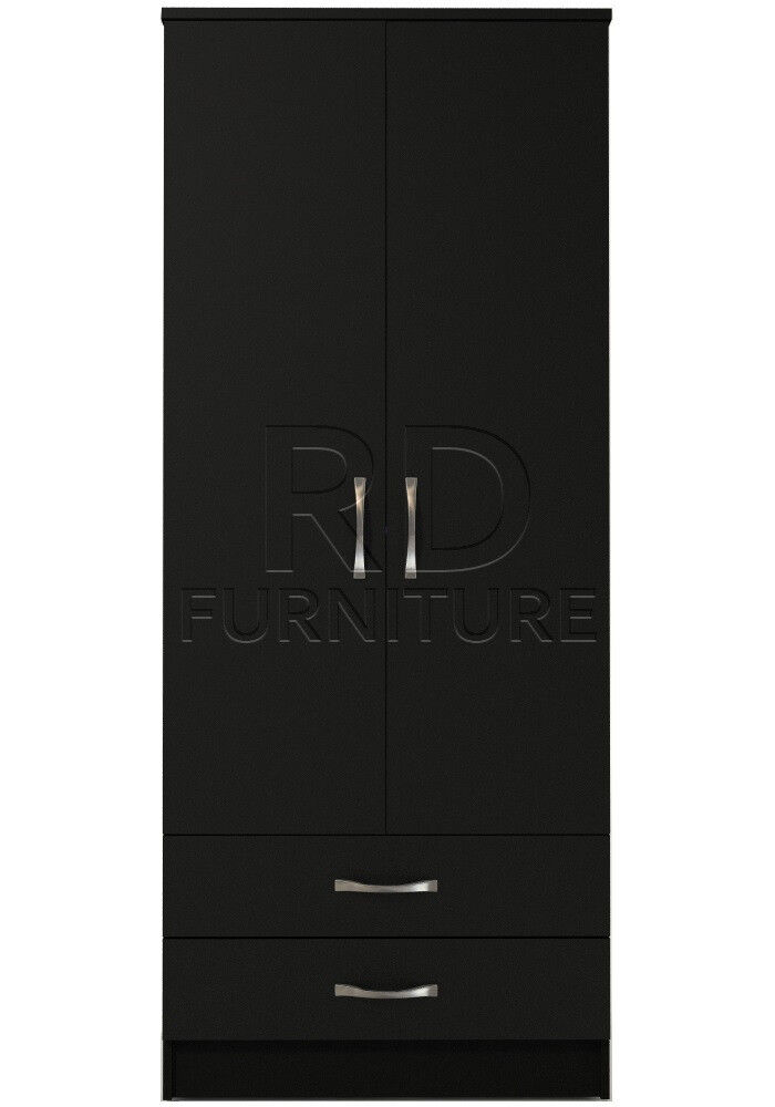 Beatrice 2 door 2 drawer wardrobe black finish