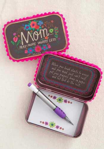 Natural Life Mom Pray More Worry Less Prayer Box!!! NEW!!!