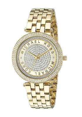 New Michael Kors Gold Mini Darci Crystal Pave Dial MK3445 Wrist Watch for Women
