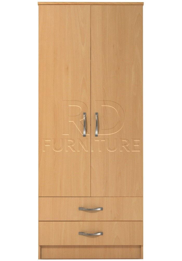 Beatrice 2 door 2 drawer wardrobe beech effect