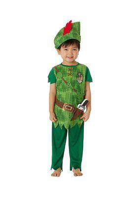 Jungen Disney Peter Pan Maskenkostüm mit Hut und Zubehör 5-8 - Peter Pan Disney Kostüm