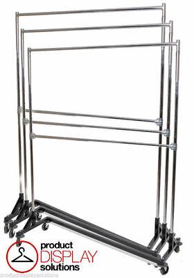 5ft Adjustable Height Double Rail Z Rack Black Base