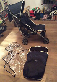 Chicco Pushchair Navy Blue Winter London Edition