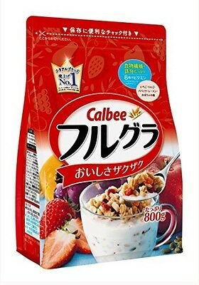 New Calbee Fruit granola 800g Breakfast Cereal Free Postage F/S From Japan
