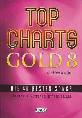 HAGE Top Charts Gold 8 (mit 2 CDs), die 40 besten Songs, EH 3897