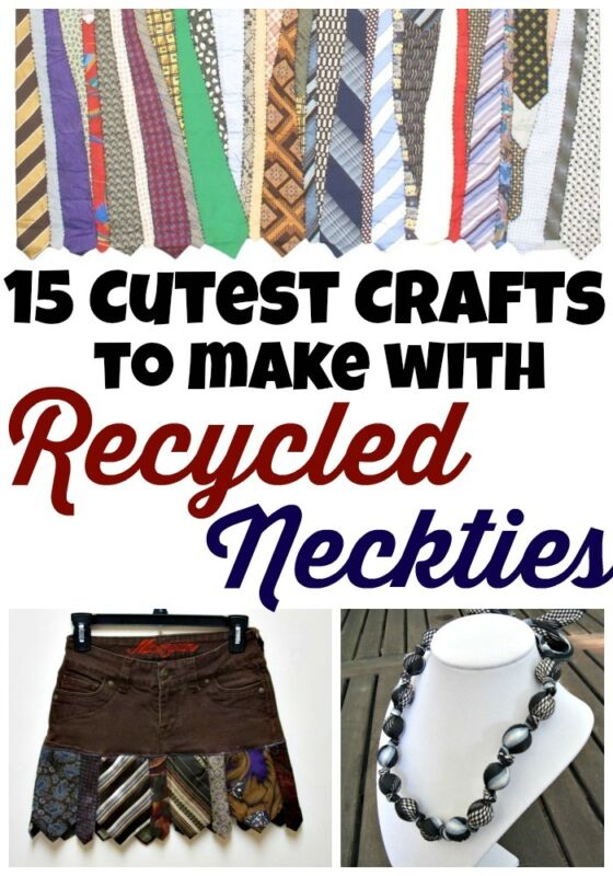 15 cutest recycled necktie craft ideas ebay for Craft projects for men