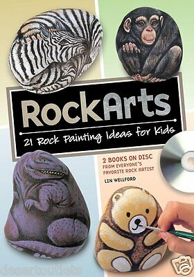 NEW! Rock Arts by Lin Wellford 21 Rock Painting Ideas for Kids, Rockarts on DVD