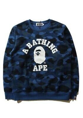 A Bathing Ape Bape Blue Camouflage Unisex Teen Adult Sweatshirts