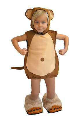 NEU BABY / KINDER AFFE KOSTÜM 98 / 104  FASCHING KARNEVAL HALLOWEEN RUMMELPOTT  (Baby-affe Halloween Kostüm)