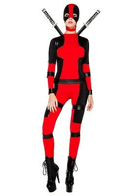 Sexy Miss Rebellious Adult Womens Costume, Deadpool, Red, Forplay - Deadpool Womens Costume