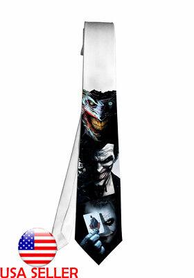 Joker Batman DC Comic Cartoon Necktie Neck Tie Anime Manga Child Cosplay Gift - Joker Tie