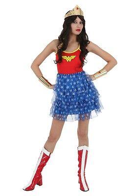 Wonder Woman Adult Womens Tutu Skirt Dress ()