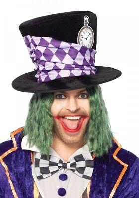 Verrückter Hutmacher ZYLINDER Leg Avenue Mad Hatter Kostüm Alice im - Schwarz Mad Hatter Kostüm