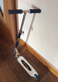 Kids or Adults Quick Step Scooter in Silver and Blue