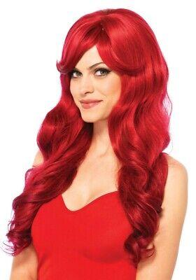 Rote Langhaar-Perücke Leg Avenue für Sexy Poison Ivy Hexe Elfe Fee Kostüm Wig